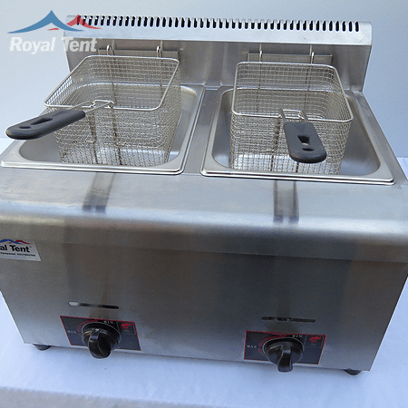 Gas Deep Fryer 2x Tank