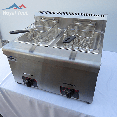 Electric 2x Tank Deep Fryer